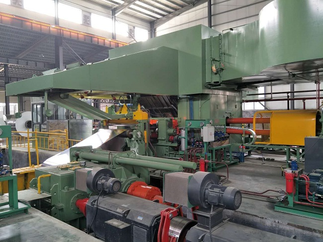 Aluminum strip rolling mill