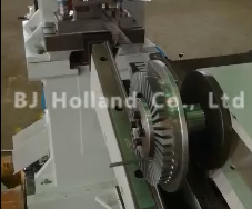 Notching press for axial brushless motor